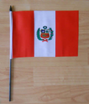 Peru Country Hand Flag - Medium.